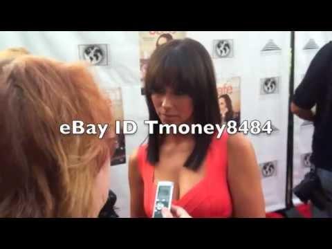 Jennifer Love Hewitt on red carpet at Cafe premiere thumbnail