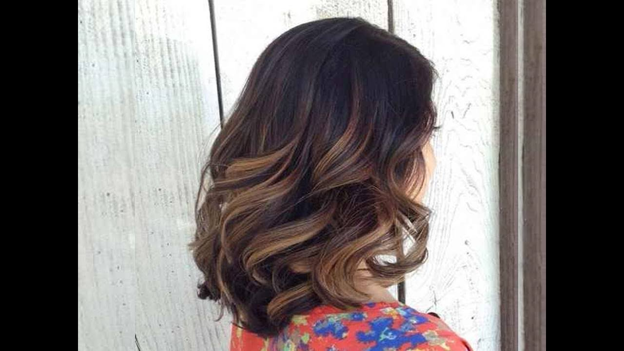 Balayage hair for black hair