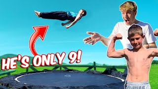 CRAZY GAME OF FLIP VS 9 YEAR OLD !