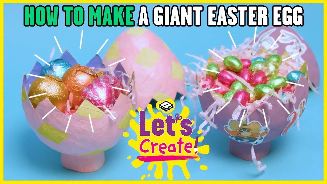 How to Make a Giant Easter Egg: Easy Tutorial! | Let's Create! | Boomerang UK 🇬🇧
