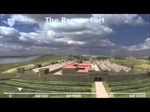 How did the Roman site of Segedunum, Wallsend, transform the landscape?