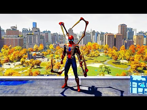 SPIDER MAN PS4 Iron Spider Suit Free Roam Gameplay (SPIDERMAN PS4)