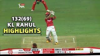 KL Rahul Batting Highlights 132* (69) vs RCB || KXIP vs RCB || IPL UAE