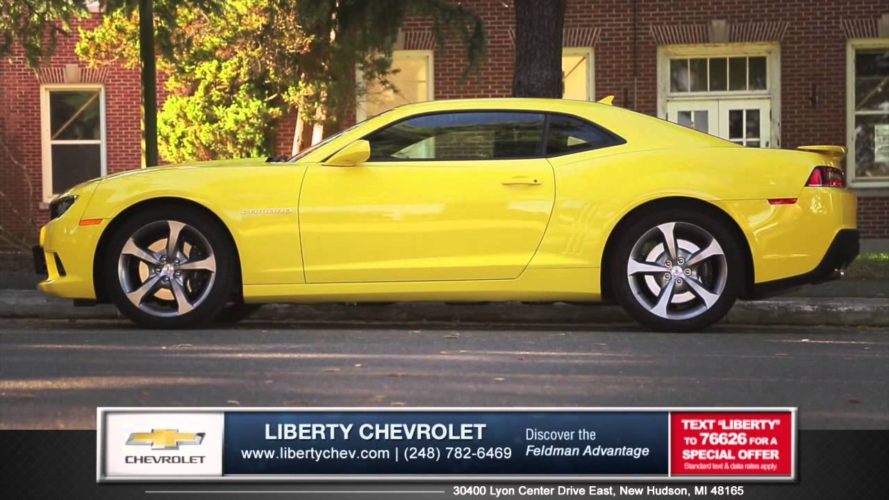 new 2015 chevrolet camaro looks cooler than new ford mustang in new hudson mi youtube. Black Bedroom Furniture Sets. Home Design Ideas