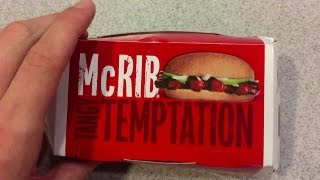 The McRib Is Back Again, Bitches!