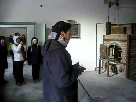Prayer for the dead ,Dachau Crematorium,March 6 2011