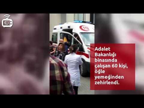 Adalet Bakanlığının Ankara Kızılay'daki Binasında çalışan 60 Kişi Yemekten Zehirlendi