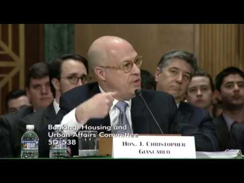 J. Christopher Giancarlo describes HODL in the U.S. Senate Committee on Banking