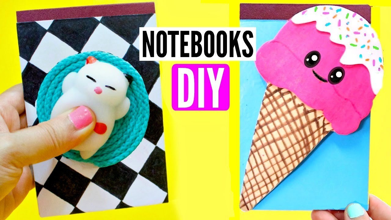 Diy kawaii chool supplies for back to school notebooks for How to put a picture on a shirt diy