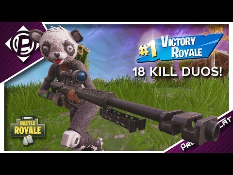 18 Kills Duo Game! - New Panda Team Leader Skin - Fortnite Battle Royale Gameplay