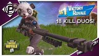 18 Kills Duo Game! - New Panda Team Leader Skin - Fortnite Battle Royale Gameplay