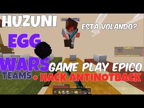 EGG WARS MINECRAFT 1.8 NO PREMIUM | CON ANTINOTBACK HACK HUZUNI |