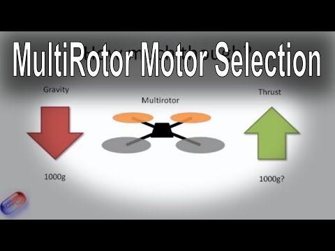 How to select the right motor for your multi-rotor (all types - Tri, Quad, Hex etc.)
