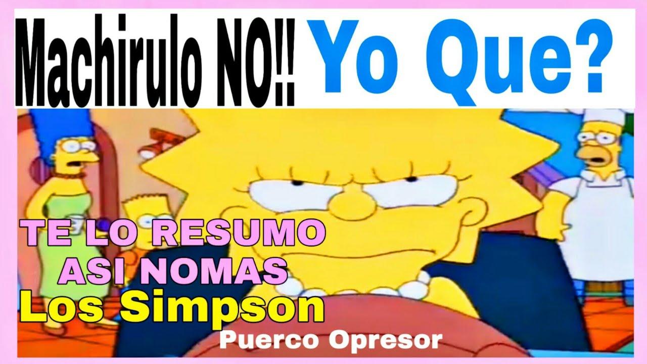 Te Lo Resumo Así Nomas Caitulos Los Simpson Lisa La Vegetariana Youtube