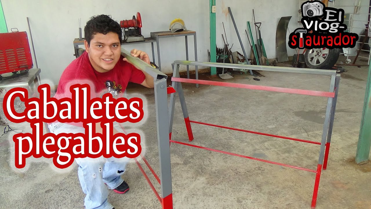 Como hacer burros caballetes para soldadura plegables for Caballetes metalicos