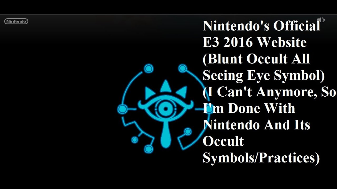 Nintendos Official E3 2016 Official Website Blunt All Seeing Eye
