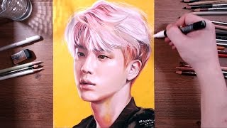 BTS : Jin - colored pencil drawing | drawholic