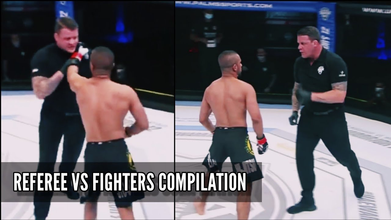 REFEREES VS FIGHTERS – MMA COMPILATION / REFEREE CHOKES FIGHTER [HD]