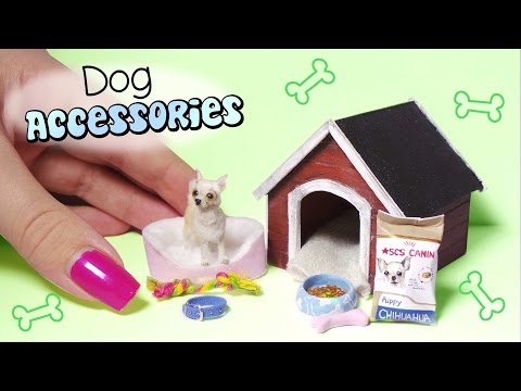 Miniature Dog Accessories Tutorial // Dolls/Dollhouse