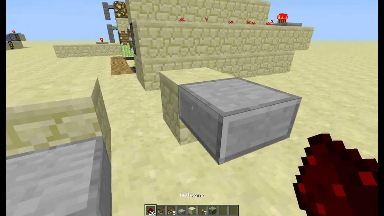 redstone tips and tricks how to use half slabs youtube rh youtube com Redstone Switch Wiring Minecraft Redstone