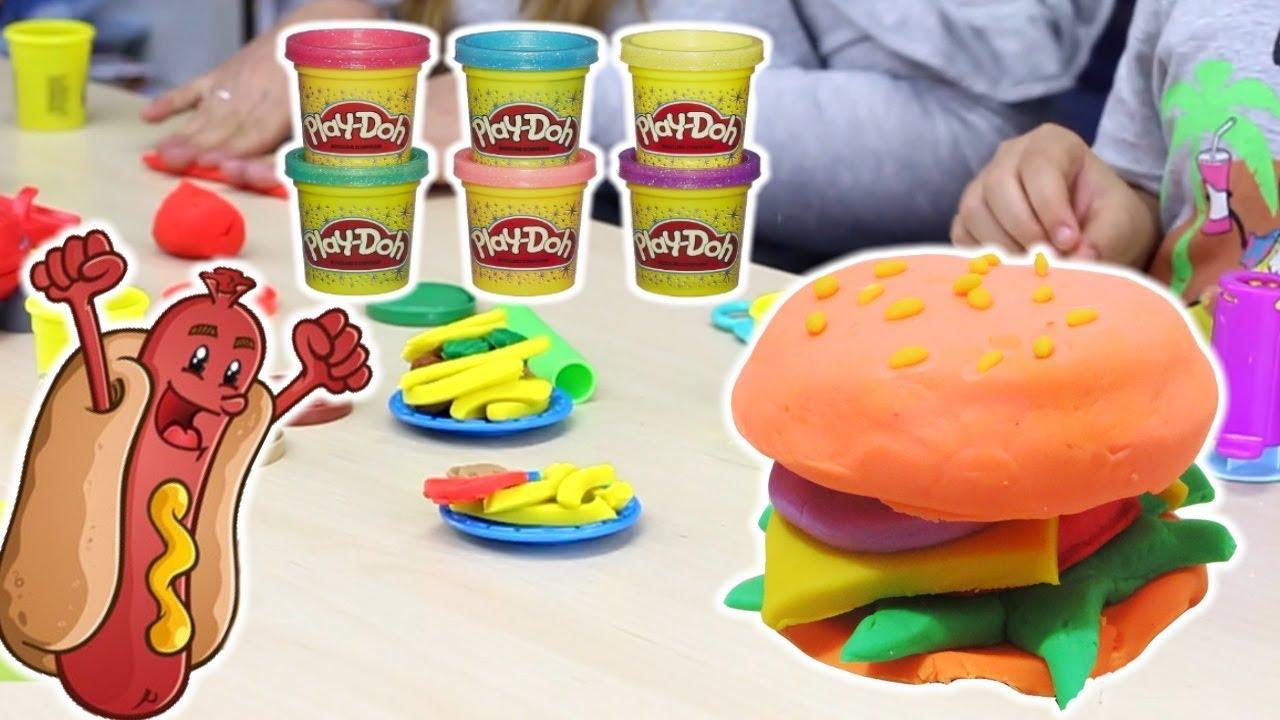 HASBRO PLAY-DOH: Giochi Di Cucina Con La Plastilina - Hamburger ...