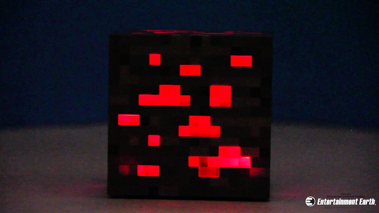 3d Interactive Wallpaper Minecraft Light Up Redstone Ore Statue Youtube