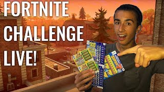 1 WIN = 1 SCRATCH CARD! FORTNITE CHALLENGE LIVE! Decent Console PLAYER #fortnitelivestre
