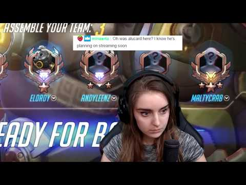 I always end up vsing this streamer every time I play Overwatch