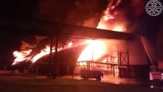 Пожар на складе 1-го рудоуправления Беларуськалия 22.05.2016