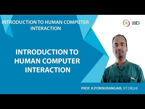 Lecture 1 - Introduction to Human Computer Interaction