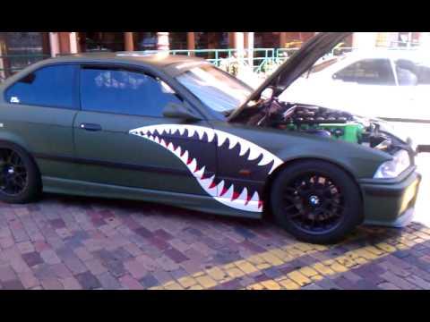 Bmw Matte Black Amp Military Green Wrap Youtube