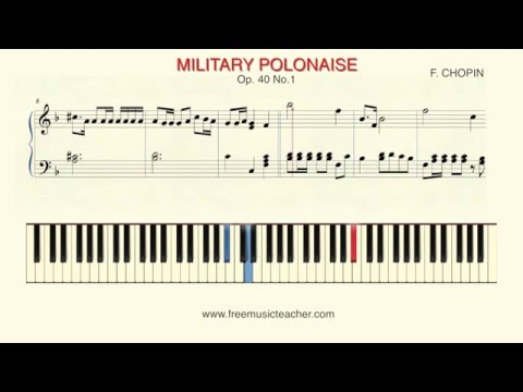 How To Play Piano: F.  CHOPIN MILITARY POLONAISE Op  40 No 1