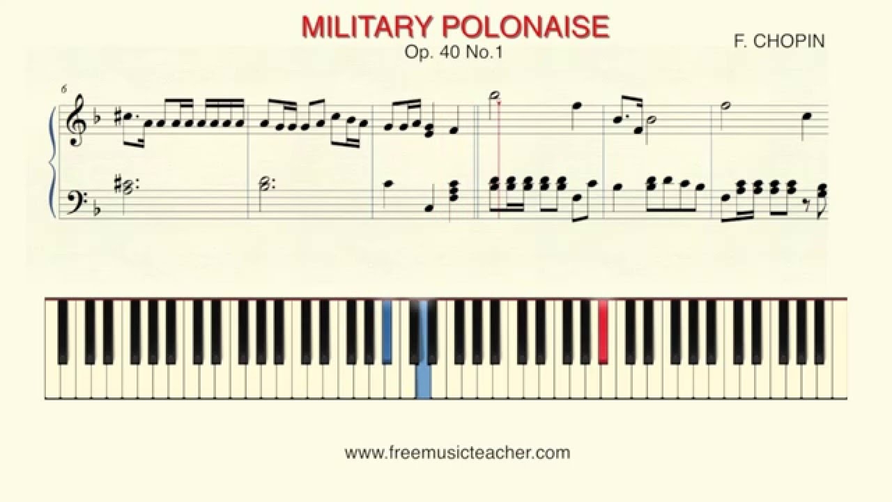 Chopin polonaise in c-sharp minor, op. 26, no. 1 piano tutorial.