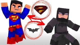 ARMADURA DO SUPERMAN vs ARMADURA DO BATMAN - MINECRAFT ‹ Frango ›