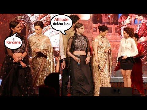 Kangana Ranaut IGNORES Ankita Lokhande & Makes Her Feel Left Out @Manikarika Promotions