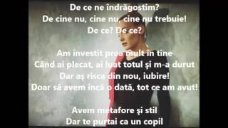 Alina Eremia - De ce ne indragostim Versuri (Lyrics)