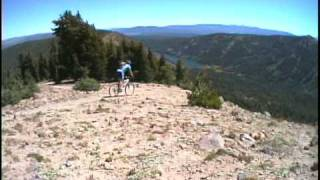 Truckee, California area - Mt Lola - Great Basin Bicycles Reno Nevada - singletrack - downhill - POV