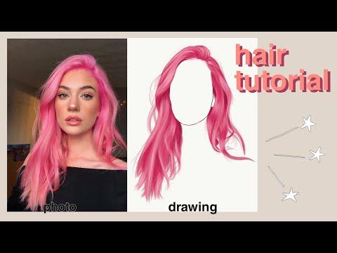 ♡ Easy Hair Tutorial// Adobe Draw