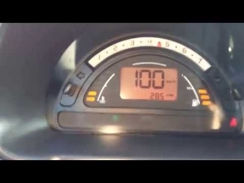 Citroen C3 1.4 73ps 0-100 acceleration , przyśpieszenie.