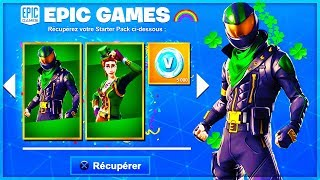 "VOICI the EXCLUSIVE SKINS of the ""SAINT PATRICK"" on Fortnite!"