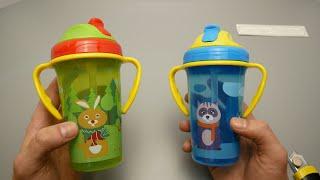 Детская Бутылка с Алиэкспресс   Детская бутылочка с трубочкой. Кружка‑непроливайка
