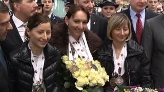 Биатлон: встреча Лены, Виты и Вали в Борисполе!