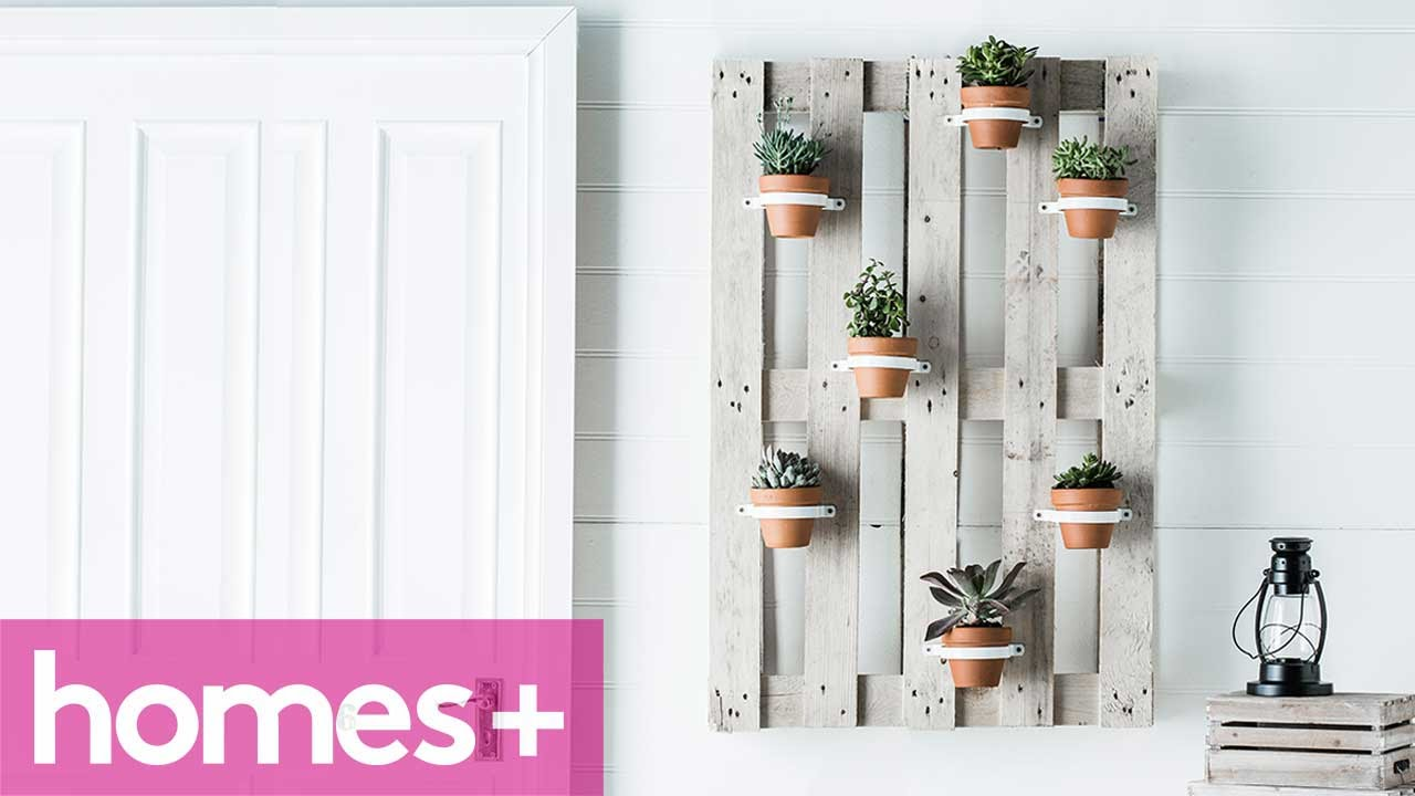 DIY PROJECT: Vertical Garden Hanging Pots   Homes+   YouTube