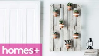 Diy Project: Vertical Garden Hanging Pots - Homes+