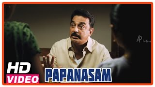 Papanasam Tamil Movie | Scenes | Police questioning Kamal Haasan and family | Asha Sarath