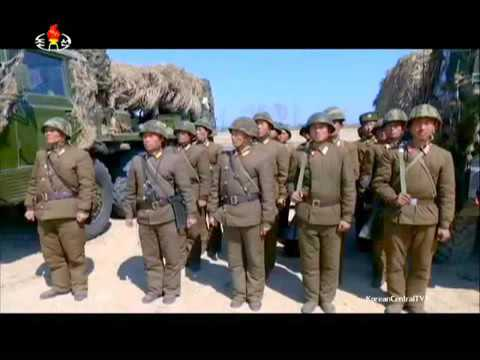 KCTV   North Korea coastal artillery firing