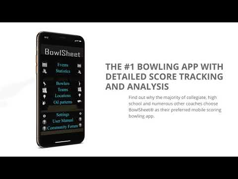 Bowling App For Serious Bowlers, Coaches and Students