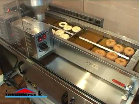 Automatic Donut Fryer Prf 11 2400 Virtuļu Aparāts Youtube