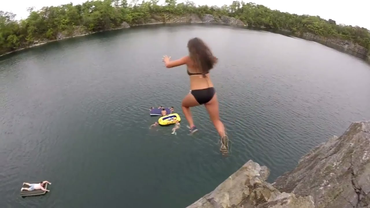 Maryland Quarry Cliff Jumping Youtube
