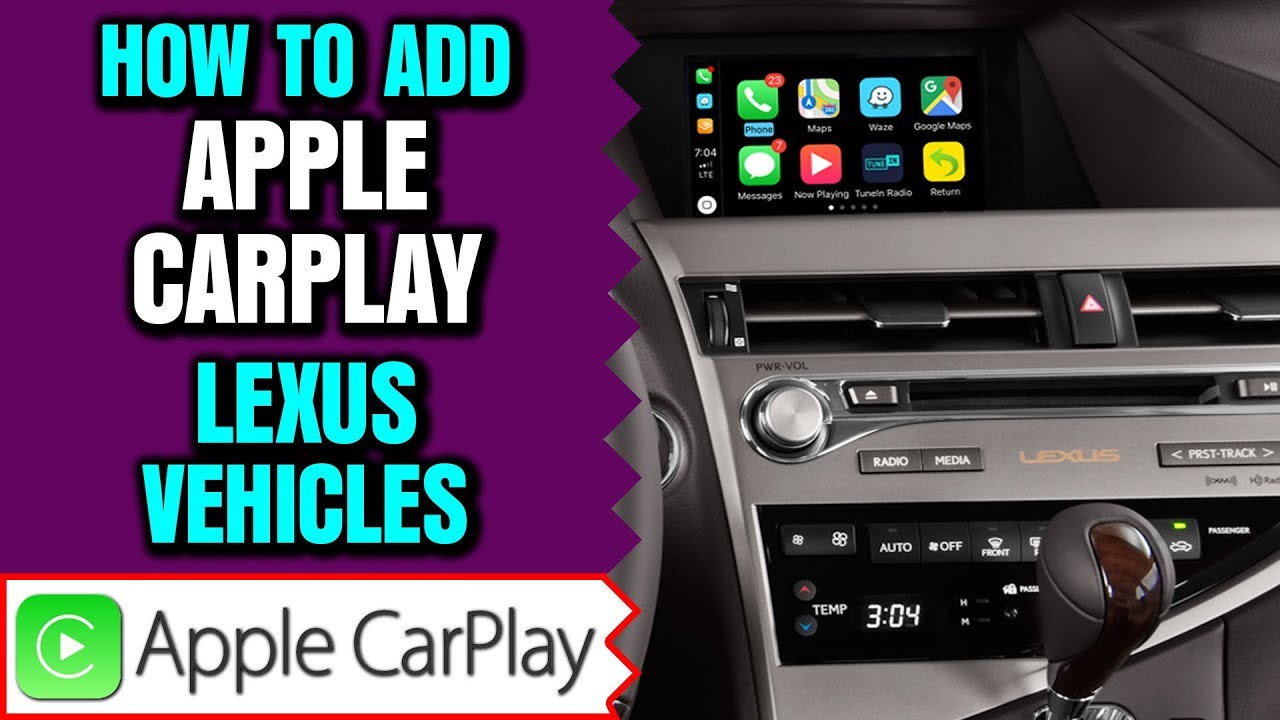NavTool Apple CarPlay , Smartphone Mirroring and Multiple Camera Interface  for Lexus Vehicles